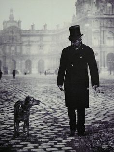Gustave Caillebotte with his dog by Martial Caillebotte