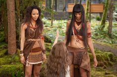 Antimache [Tracey Heggins] and Areximache [Judith Shekoni], Amazon twins