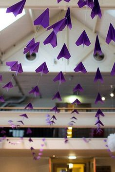 Paper Plane #Decoration for #Destination #Weddings : | 27 Creative Ideas For A Travel-Themed Wedding