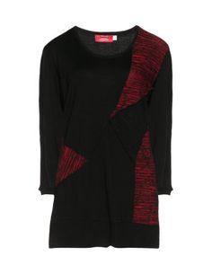 Kimonoshirt mit Materialmix in Schwarz / Rot designed von Peter Luft in der Kategorie Shirts bei navabi.de