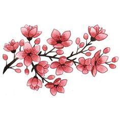 Blühende Kirschblüten Tattoo