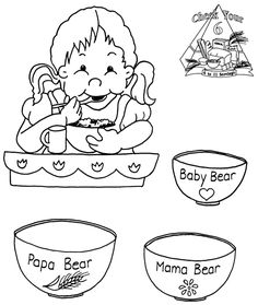 The 3 Bears Cereal Goldilocks And The Three Bears, 3 Bears, Kindergarten Class, 3 Things, Fairy Tales, Wonderland, Snoopy, Beer, Templates