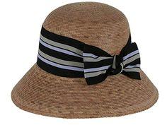 7612628ac30 Tula Hats - Women s - Ella Multi Striped Bow Palm Hat Review Kentucky Derby  Hats