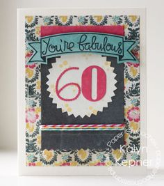 Card by PS DT Kalyn Kepner using PS Blissful Bannes, Numbers, Pinked Circles dies