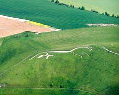 White horse from air - Geoglifo – Wikipédia, a enciclopédia livre