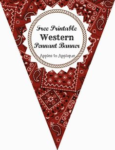 FREE Printable Western-Themed Pennant Banner (includes all letters and numbers)