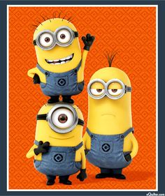 """1 in a Minion - Kevin, Stuart & Bob - 36"""" x 44"""" PANEL - Quilt Fabrics from www.eQuilter.com"""