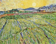 """https://www.facebook.com/VincentvanGogh.MiaFeigelson.Gallery """"Enclosed field with rising sun"""" (Saint-Rémy. December, 1889) [F737] By Vincent van Gogh, from Zundert, Netherlands (1853 - 1890) - oil on canvas; 71 × 90.5 cm ; 28 × 35.6 in - [Post-Impressionism] Place of creation: Saint-Rémy-de-Provence, Provence, France Private Collection: Sammlung R. Oppenheimer, San Francisco, California, US"""