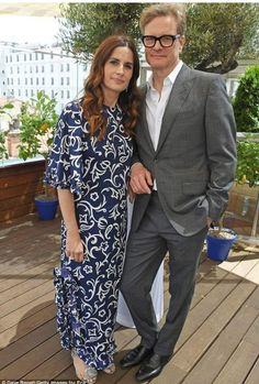 Sticking together: Colin and Livia Firth put on a united front on Tuesday, as they hosted a private lunch in Cannes British Celebrities, Most Stylish Men, Tokyo Fashion, Men's Fashion, Colin Firth, Kendall Jenner Outfits, Victoria Dress, Models, Red Carpet Dresses