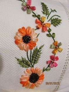 Wonderful Ribbon Embroidery Flowers by Hand Ideas. Enchanting Ribbon Embroidery Flowers by Hand Ideas. Embroidery Designs, Ribbon Embroidery Tutorial, Silk Ribbon Embroidery, Embroidery Kits, Embroidery Supplies, Flower Embroidery, Machine Embroidery, Learn Embroidery, Hand Embroidery Stitches