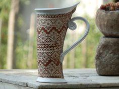 Taza de cerámica taza del té blanco taza por StudioRosalina en Etsy