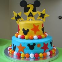 Mickey Mouse cake I made for Max's bday :)