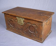 17th Century Antique Carved English Oak Bible Document Box Wood Chest Ditty Old | eBay