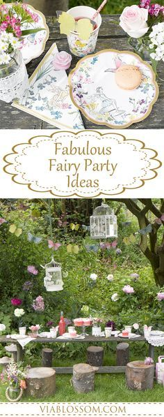 Magical Fairy Party Ideas for a Girl Birthday Party!!  All the Fairy Party Decorations you will need for a whimsical celebration!