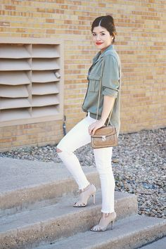 Military Inspired boyfriend Shirt via American Eagle Outfitters  Chic Talk   Colombian Fashion Blogger   Fashion Style - Inspiration - Trends - Ideas - Tips - Advice