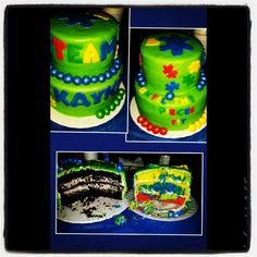 Custom Autism Awareness Cake!