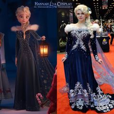 Disney Costumes Elsa from Frozen cosplay by Hannah Éva Cosplay Frozen Cosplay, Elsa Cosplay, Disney Cosplay, Disney Costumes, Disney Princess Cosplay, Anime Cosplay, Robes Disney, Disney Dress Up, Disney Princess Dresses