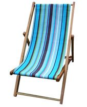 deck chair covered in windsurfing fabric
