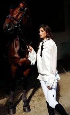 white silk Victorian blouse in a new collection Dream World made by Cabo AW 2015
