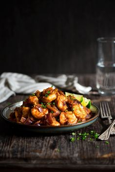 Sambal Shrimp | Super easy for lazy days. Serve with rice for the ultimate comfort food | whitbitskitchen.com