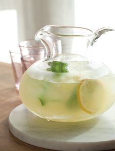 This look like a yummy beverage. I think I will cut the sugar in half though. Quick and Easy Lemonade with Basil | Vegetarian Times