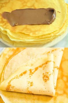 Simple and foolproof recipe for Sweet Crepes. I ve made these hundreds of times and they are family s favorite. Cooktoria for more deliciousness! Easy Crepe Recipe, Crepe Recipes, Köstliche Desserts, Dessert Recipes, Puff Pastry Desserts, Brunch Recipes, Sweet Crepes Recipe, Vegan Crepes, Cheesecake Recipes