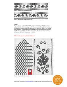 Vantar_med_rosmonster_3 (540x700, 194Kb) Knitted Mittens Pattern, Knit Mittens, Knitting Patterns, Knit Art, Fingerless Mitts, Knit Crochet, Knits, Gloves, Breien