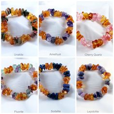 Amber and Gemstone Chip Bracelets for Kids :: The Northern Collective In-stock Store #hazelandhoney www.facebook.com/HazelandHoney