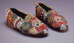 Africa | Beaded shoes {Bata Ileke}.  Yoruba people. @Beth Schaeffer