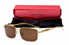22874c1ef70 Cartier panthere golden sunglasses - Half rim frame Cartier Santos