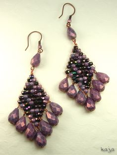Beautiful statement earrings...love the colors!