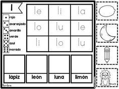 Sílabas por Siempre (syllables and words in Spanish)