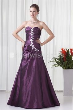 Handmade Flower(s) Formal Evening Summer Special Occasion Dress just US$ 169.99 Wonderful prom dress/ball gown. Made of taffeta materials. Cute flowers and small beads dotted on the top portion. Elegant floor-length. Perfect back corset-closure. Made with full lining and build-in bra.  #specialoccasiondress #fashion #longggown #longdress