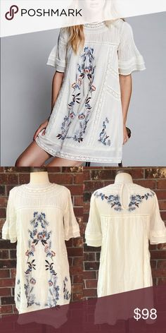 FREE PEOPLE Perfectly Victorian Mini Dress Excellent condition, never worn! Free People Dresses Mini