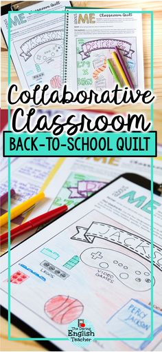 Create a collaborative classroom quilt with your students during the first week of school. Each student will receive, decorate, and turn in a quilt square. Your students will love seeing their work on the wall all year long. #backtoschool #firstdayofschool #middleschool