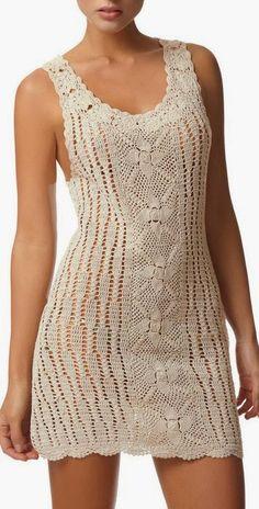 Bom dia, um look que está fazendo o maior sucesso, vestido de crochet , este é muito bonito, pedido da minha filha para usar na praia no re...