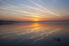Amanece el el lago Balaton, Hungria.