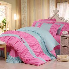 High quality Korean 4pcs bedding sets,bedding products,duvet covr,quilt cover,bedsheet,flat sheet,pillow cases,home textiles $84.00 - 86.00