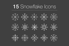 15 Snowflake Icons Graphics Celebrate this holiday season with 15 unique snowflake icons!Each icon is vector, meaning it is 100 by CaseyIllustrates Christmas Icons, Diy Christmas Cards, Holiday Cards, Snow Flake Tattoo, Business Illustration, Christmas Embroidery, First Contact, Creative Sketches, Watercolor Cards