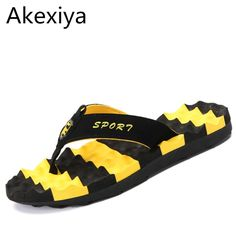 3cf44f45c45ab9  Visit to Buy  Akexiya Plus Size 45 Famous Brand Designer Men Sandals  Slippers Casual