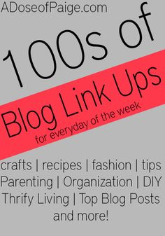 Promote your blog by linking up with link ups! Here isa list of over 100 link ups for all kinds of posts! #blogging #linkups #blog
