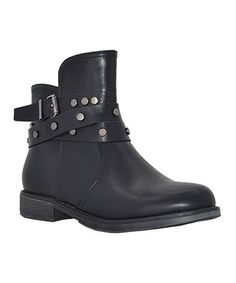 Another great find on #zulily! Black Studded Wanda Boot #zulilyfinds