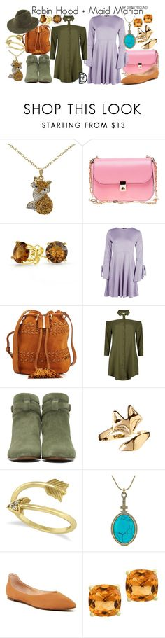"""""""Robin Hood + Maid Marian"""" by leslieakay ❤ liked on Polyvore featuring Valentino, Bling Jewelry, Boohoo, See by Chloé, Yves Saint Laurent, Allurez, House of Harlow 1960, Franco Sarto, Effy Jewelry and disney"""