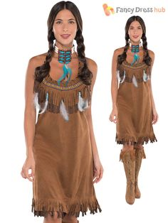 Costume Nativi Americani Indiani Wild West Costume Libro Day LOST Boys Girls