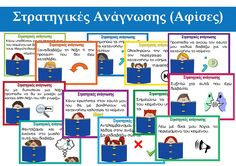Reading Comprehension Strategies Poster (in Greek) by PrwtoKoudouni Reading Comprehension Strategies, Reading Resources, Third Grade Reading, Authors Purpose, Common Core Reading, Literature Circles, Context Clues, Reading Response, Writing Skills