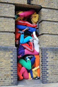 This kills me on the claustrophobia side of my brain . Performance art group Bodies in Urban Spaces set up human sculptures across London - Telegraph Land Art, Human Sculpture, Bodies, Picture Collection, Art Plastique, Public Art, Urban Art, Installation Art, Art Installations