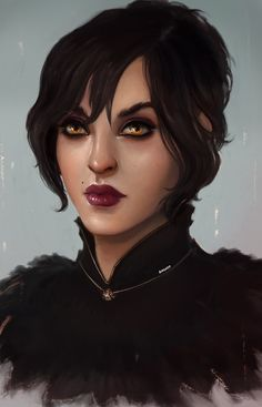 so i somehow really need to learn how to paint in more painterly ways so one of these days you'll probably be flooded by random portraits and other attempts for now just a morrigan