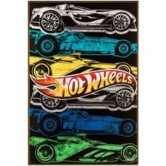 Zoom into the fun parts of your childhood with Multi-Color Hot Wheels MDF Wall Art. Featuring six assorted cars in colors like gray, yellow, green, and blue, this wall art boasts the classic Hot Wheel