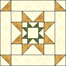 Block of Day for April 22, 2016 - Evening Star-strip piecing-The pattern may be downloaded until: Monday, May 2, 2016.