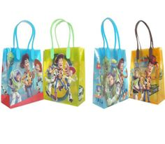Amazon.com : Disney Pixar Toy Story Party Gift Goody Bags 12 Pack : Gift Wrap Bags : Toys & Games